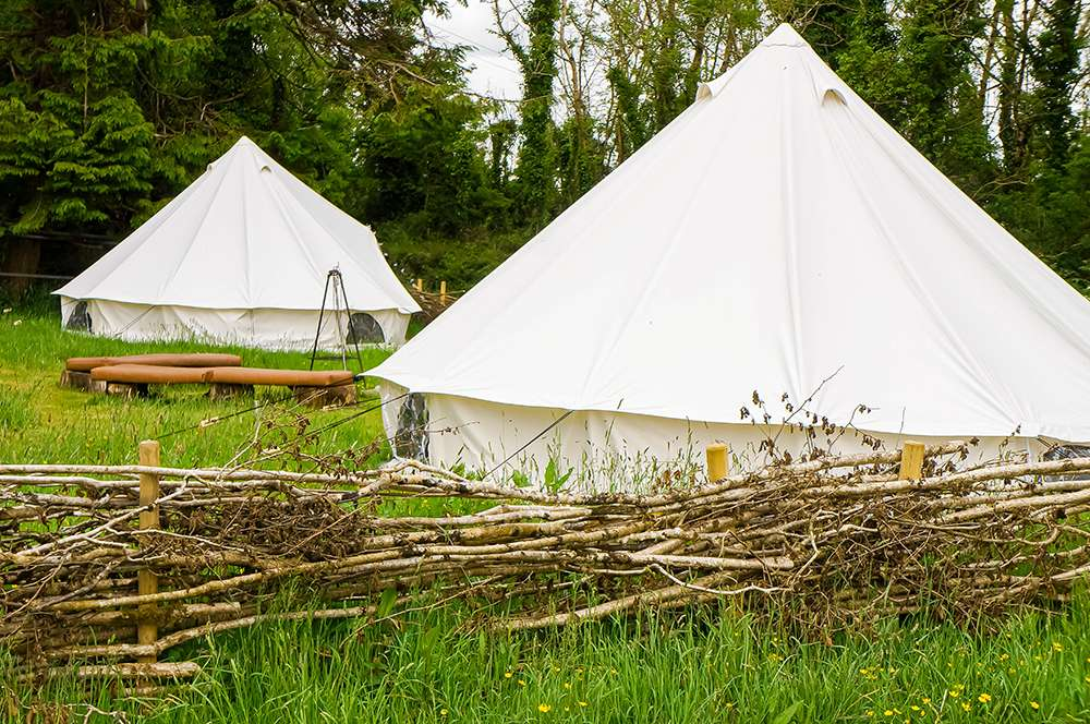 Bell tents with the Burren Farm Experience
