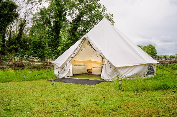 Agricamping experience in bell tents on the Burren Farm Experience